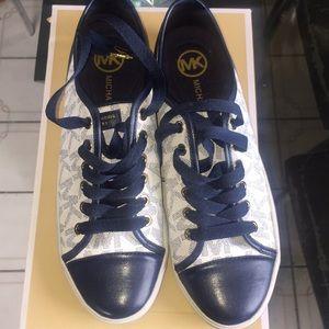 Michael Kors Navy Blue Logo Sneakers